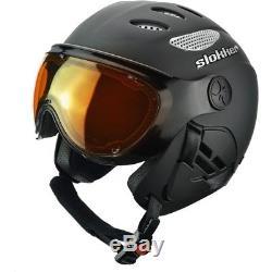 Ski Helm Slokker Skihelm SLK Raider II Schwarz Matt #3917 Ski Helm