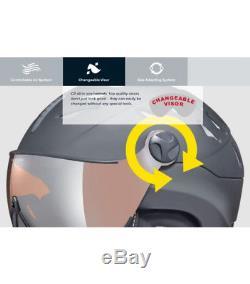 Ski Helmet CP Visor CAMURAI SWAROVSKI SHINY BLACK clear silver mirror lens