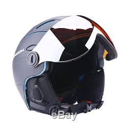 Ski Snowboard Helmet Sport Attached Detachable Photochromatic Polarizing Goggles