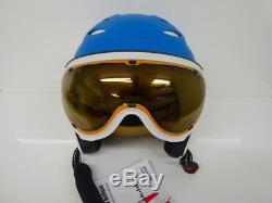 Skihelm, Snowboardhelm, Slokker BALO/VISOR lightblue, Art. 07922, Gr. 58-60