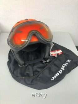 Skihelm, Snowboardhelm, Slokker BALO/VISOR orange, Art. 07912, Gr. 55-57