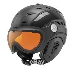 Slokker BAKKA black Visier Skihelm Snowboardhelm Helm optimal für Brillenträger