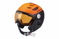 Slokker Balo orange black Visor Visier Skihelm Snowboardhelm Herren Helm j19
