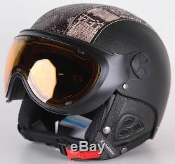 Slokker Skihelm Dinho, Black- Blue, 56-58, 07823-2 Snowboardhelm mit Visier