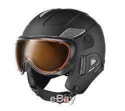 Slokker Skihelm Raider Visor BLACK-MATT Skihelm Snowboardhelm Visier Tourenhelm