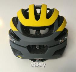 Small Bell Z20 Yellow Gray Rally Cycling MIPS Road Bike Helmet Size S