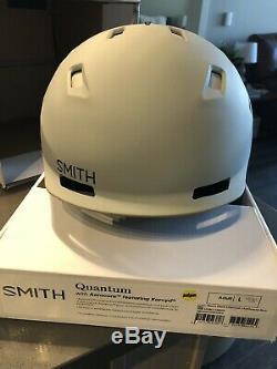 Smith Optics Quantum MIPS Snow Helmet (Large, Matte Cloudgrey Charcoal)