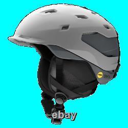 Smith Quantum MIPS Snow Helmet Men's Large, Matte Cloud Grey/Charcoal