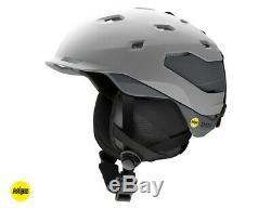 Smith Quantum MIPS Snow Helmet Men's Medium, Matte Cloudgrey/Charcoal