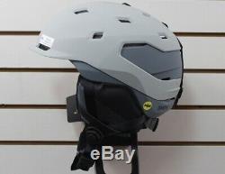 Smith Quantum MIPS Snowboard Helmet Adult Medium 55-59 cm Cloudgrey Charcoal New