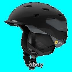 Smith Quantum Snow Sports Helmet with MIPS, Medium, Matte Black/Charcoal
