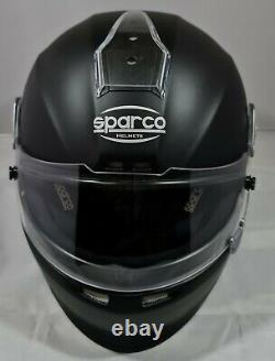 Sparco WTX-5H Helmet Matt Black (HANS) Size Medium (57cm-59cm) FREE P&P