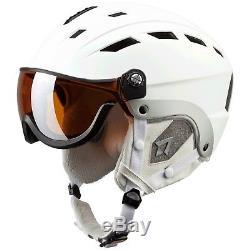 TecnoPro Erwachsenen Ski-Helm Skihelm mit Visier TITAN weiß