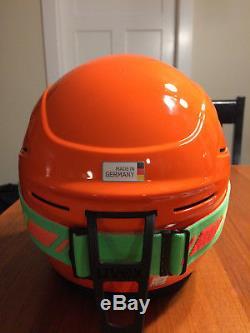 UVEX Race+ Plus FIS ski helmet, 53/54 cm & matching downhill 2000 goggles NWT