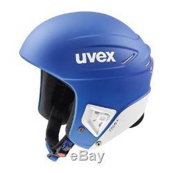 UVEX Race + cobalt-white Skihelm blau-weiß