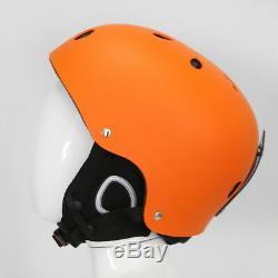 Ultralight Ski Snowboard Helmet Men Women Youth with Detachable Earmuff Orange