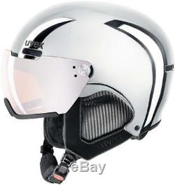 Uvex Adult 500 Visor Ski Helmet, Chrome Silver, 52-55 CM