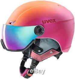 Uvex Erwachsene 400 Visor Skihelm Pink/Orange Met Mat Gr. 53-58
