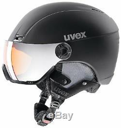 Uvex Erwachsene HLMT 400 Visor Style Skihelm, Schwarz Matt, Gr. 58-61 cm
