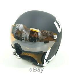 Uvex Erwachsene Skihelm Hlmt 500 Visor, Black-White mat, 59-62 cm NEU