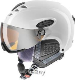 Uvex Hlmt 300 Visor White Skihelm Mat 55-58 CM Ski Helm Visierhelm Neuware