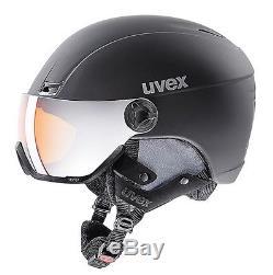 Uvex Hlmt 400 Visor Style 2018 Ski Snowboard Helmet 58-61cm Black mat