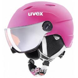 Uvex Jun. Visor Pro Pink Mat Kinderhelm 52-54cm Kinderskihelm Neu
