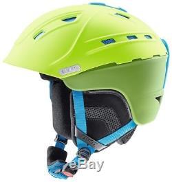 Uvex P2US green / liteblue mat Skihelm Snowboardhelm Tourenhelm Wintersporthelm