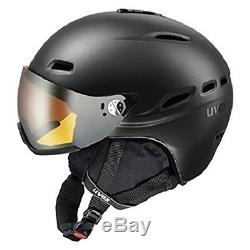 Uvex Ski Helm Hlmt 200 Black Met Gr. 55-58 Skihelm Mit Lasergold Lite-visier