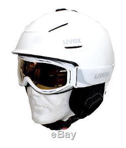 Uvex Skihelm p1us hlmt white 55-59 Skibrille goggles uvex hypersonic Snowboard