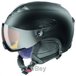 Uvex Unisex Hlmt 300 Skihelm Ski Helm Inkl. Visier Mat 55-58 CM Schwarz Neu