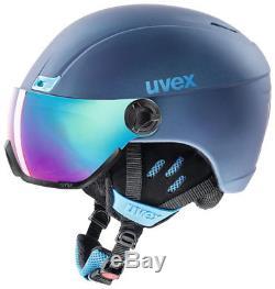 Uvex hlmt 400 visor style Skihelm navyblue mat