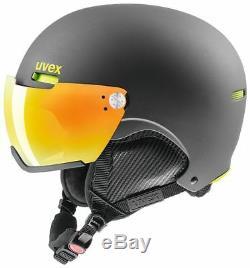 Uvex hlmt 500 visor Skihelm Helm Skifahren Wintersport Schnee gun lime mat