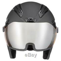 Uvex hlmt 600 Visor Ski + Snowboard Helmet Black Mat 2020