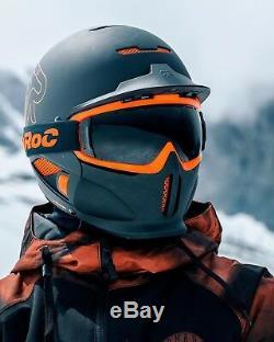 2019 Nouveau Dans La Boîte! Ruroc Black Nova Rg1-dx Casque De Ski Et Snowboard M / L