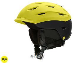 2020 Smith Optics Level Street Yellow Black Mips Ski Snowboard Casque