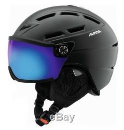 Alpina Griva Visor Vhm Skihelm Snowboardhelm Noir Mat