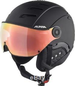 Alpina Jump 2,0 Hm Noir Skihelm Mit Visier Hicon S2