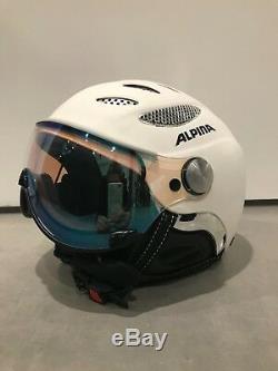 Alpina Jump Casque De Ski Varioflex Blanc Taille 55-57