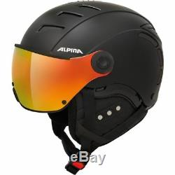 Alpina Skihelm Jump 2.0 Qvmm Quattroflex Varioflex Visier Noir 2 Étoiles 2019
