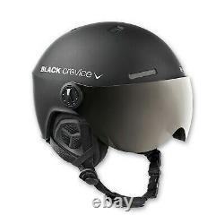 Black Crevice Ski- & Snowboardhelm Mit Visier Modell Gstaad Noir / Blanc
