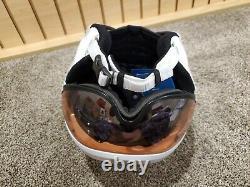 Bogner Ski Helmet B-visor Flames White L (58-62cm)