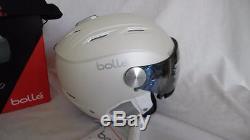Bolle Backline Visière Premium Casque De Ski Soft White / Argent 56-58