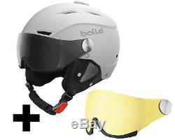 Bollé Backline Visor Blanc Doux Avec 2 Lentilles Ski / Snowboardhelm Gr. L-xl