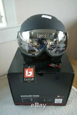 Bolle Backline Visor Ski / Snowboard Casque Taille S (54-56cm) Soft Black & Silver