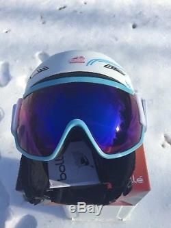 Bolle Osmoz Ski Snowboard Casque & Visor Googles Blanc L58-61cm Neuf Dans La Boîte