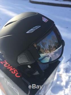 Bolle Osmoz Ski Snowboard Helmet & Visor Googles Noir M54-58cm Neuf Dans La Boîte