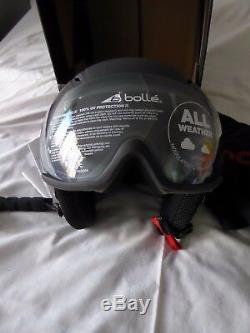 Bolle Snow Helmet Backline Premium Premium Soft Black & White Avec Modulator Nouveau