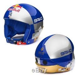 Briko Vulcano Fis 6.8 Jr Red Bull Kinder Skihelm Silber