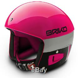 Briko Vulcano Fis Ski Race Casque Noir Rose, Moyen (56cm)